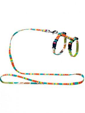 Шлейка для кошек и собак Hunter Smart Stripes разноцветная