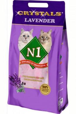Силикагелевый наполнитель N1 Crystals Lavender Лаванда (5л)