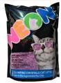 Силикагелевый комкующийся наполнитель Neon Litter фиолетовый (1,81кг)