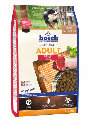 корм Bosch Adult Lamb & Rice для собак (15 кг)