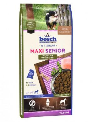 Bosch Maxi Senior для пожилых собак крупных пород с птицей и рисом (12,5 кг)