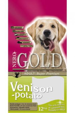 Сухой корм NERO GOLD super premium Venison&Potato для взрослых собак c Олениной