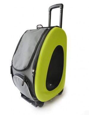 Сумка-тележка Ibiyaya 3 в 1 для собак до 8 кг лайм