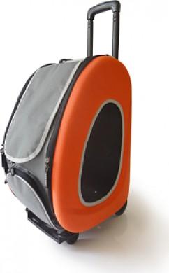Сумка-тележка Ibiyaya 3 в 1 для собак до 8 кг оранжевая