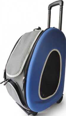 Сумка-тележка Ibiyaya 3 в 1 для собак до 8 кг синяя