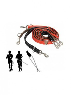 Светоотражающий многофункциональный поводок BF Gear reflect leash (20мм*300см)