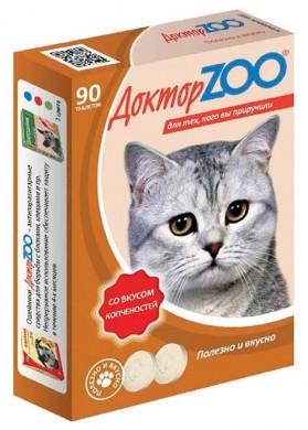 Витамины для кошек Доктор Зоо Копчености (90т)