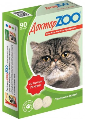 Витамины для кошек Доктор ZOO Печень (90т)