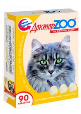 Витамины для кошек Доктор ZOO Сыр (90т)