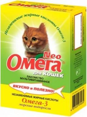 Витамины Омега Морские водоросли для кошек (90т)