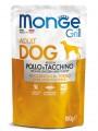 Влажный корм Monge Dog Grill Pouch для собак курица с индейкой (100 г)