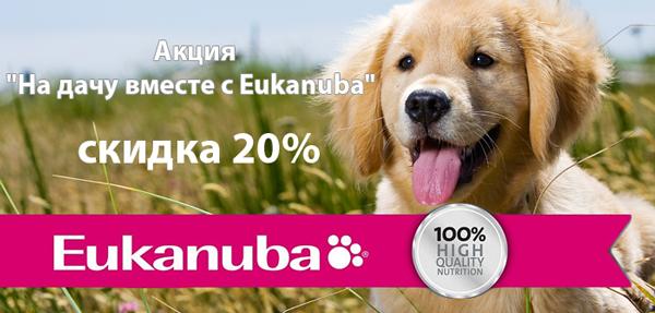Скидка 20% на корма для собак Eukanuba!