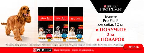 Акция! Купи ProPlan 12кг+2кг в подарок!