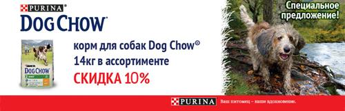 Корм для собак Dog Chow со скидкой 10%