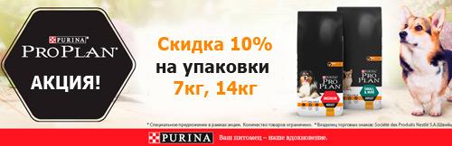 Скидка 10 % на корма для собак ПроПлан