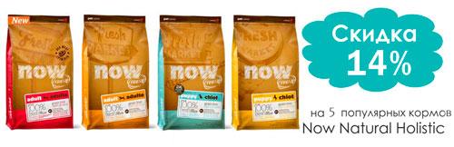 Скидка 14% на корма для собак no fresh!